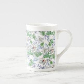 Copo de chá do teste padrão de flor da aguarela xícara de chá