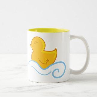 copo de chá ducky de borracha clássico caneca