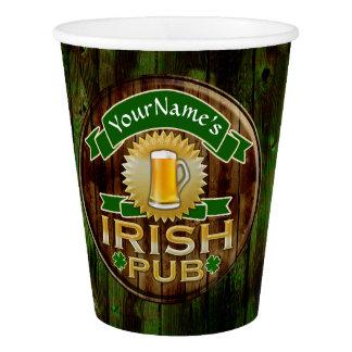 Copo De Papel Dia de São Patrício irlandês do sinal do bar do