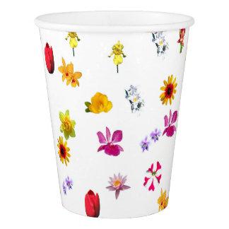 Copo de papel feito sob encomenda das flores, 9