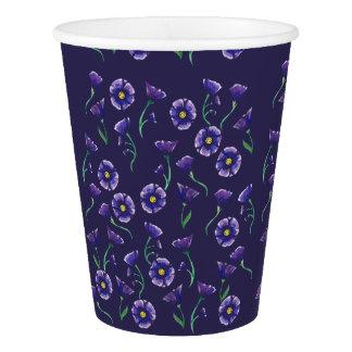 Copo De Papel Flor roxa violeta