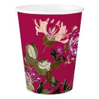 Copo de papel floral da flor botânica da videira