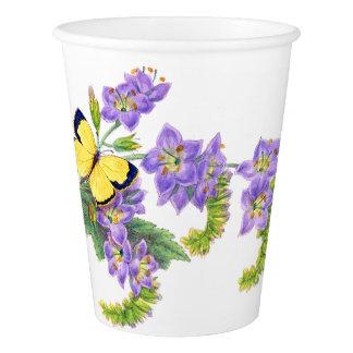 Copo de papel floral das flores botânicas da