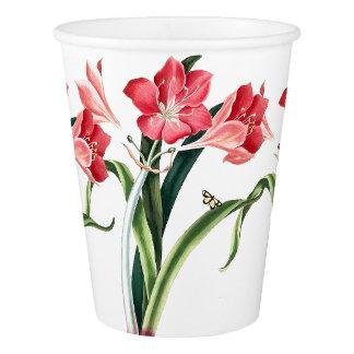 Copo de papel floral de Redoute da flor botânica