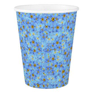 Copo De Papel Flores azuis e amarelas da luz -