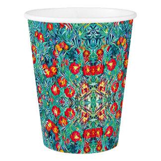 Copo De Papel Tagetes/copo de papel de teste padrão flores do