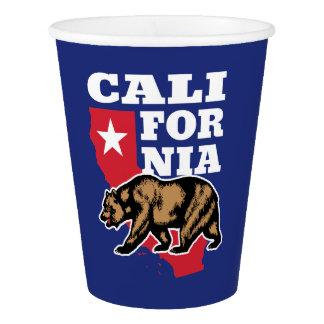 Copo De Papel Urso e estrela de Califórnia