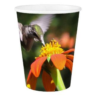 Copo floral da flor do girassol do pássaro do
