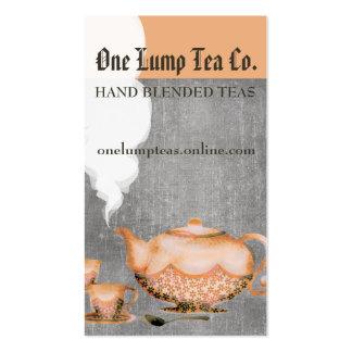 Copos de chá do bule da aguarela que cozinham o cartão de visita