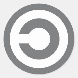 Copyleft - a informação quer estar livre adesivos em formato redondos
