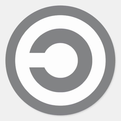 Copyleft - a informação quer estar livre adesivos