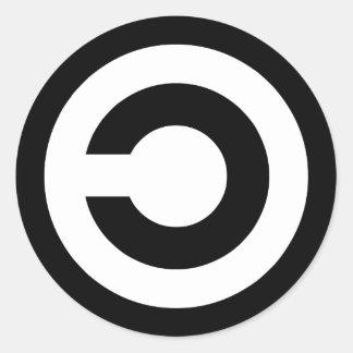 Copyleft - a informação quer estar livre adesivo redondo