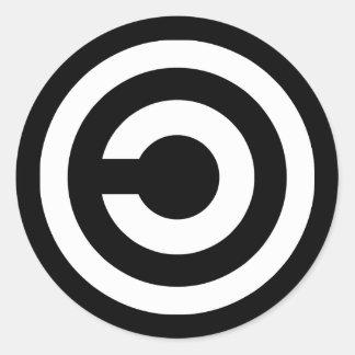 Copyleft - a informação quer estar livre adesivo