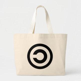 Copyleft - a informação quer estar livre bolsa tote grande