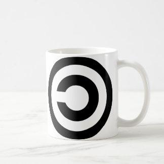 Copyleft - a informação quer estar livre caneca de café