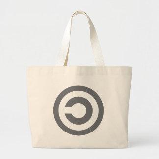 Copyleft - a informação quer estar livre sacola tote jumbo