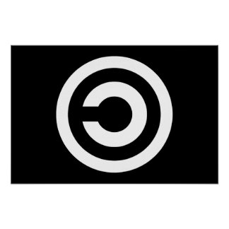 Copyleft - a informação quer estar livre poster
