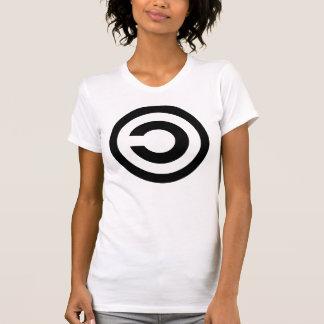 Copyleft - a informação quer estar livre t-shirts