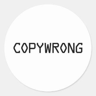 Copywrong Adesivos Redondos
