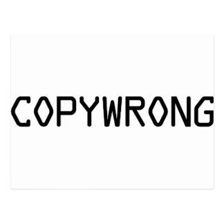 Copywrong Cartão Postal