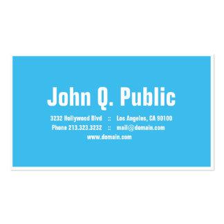 Cor azul com o cartão de visita branco do quadro