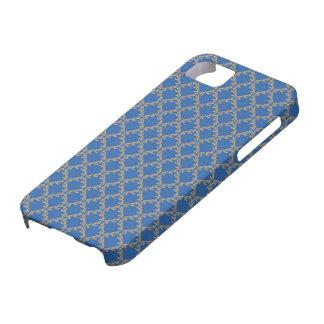 Cor Azul de Fondo do engodo de Linda Textura Capas iPhone 5 Case-Mate
