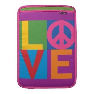 Cor-Bloco LOVE=Peace Bolsas De MacBook
