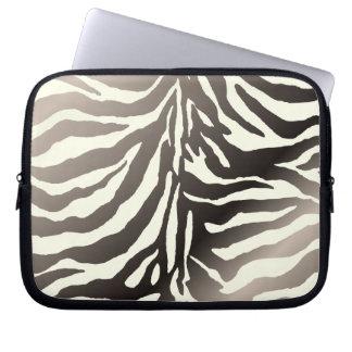 Cor cinzenta do fundo de PixDezines zebra/DIY Capas De Notebook