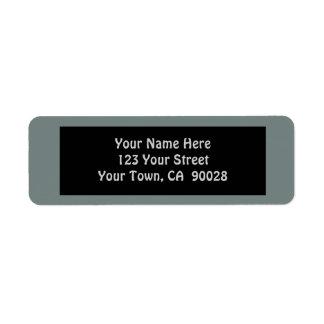 cor cinzenta simples etiqueta endereço de retorno