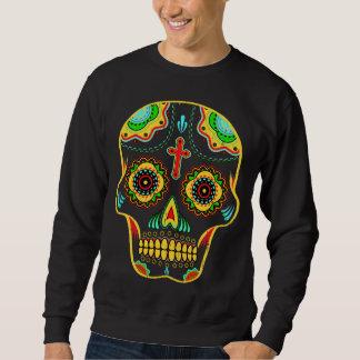 Cor completa do crânio do açúcar suéter