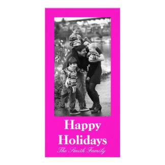 Cor cor-de-rosa Stunningly Vivacious Cartão Com Foto