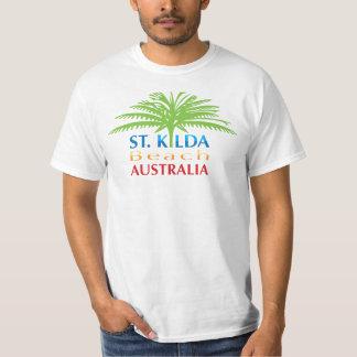 Cor corajosa do tshirt da praia de St.Kilda