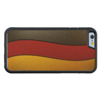 Cor-Cromo da bandeira de Alemanha Capa De Carvalho Bumper Para iPhone 6