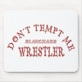 Cor da escola do lutador de Blanchard Mouse Pad