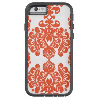 Cor damasco branca alaranjada do vintage capa tough xtreme para iPhone 6