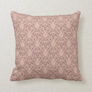 Cor damasco cor-de-rosa e malva elegante travesseiro