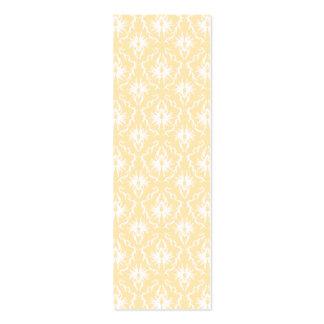 Cor damasco elegante. Cor clara do ouro Cartão De Visita Skinny