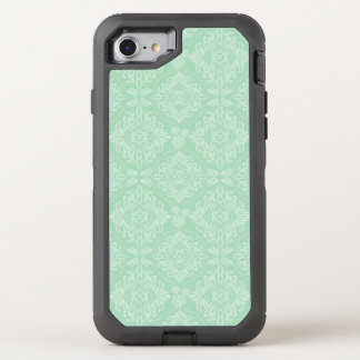 Cor damasco verde capa para iPhone 7 OtterBox defender