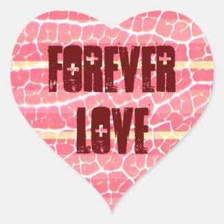 cor-de-rosa e vermelho listra a etiqueta adesivos de corações