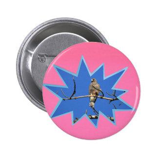Cor-de-rosa estale para fora o quadro da foto bóton redondo 5.08cm