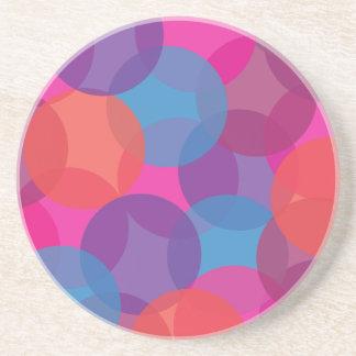 Cor-de-rosa roxo brilhantes azul design alaran porta-copo