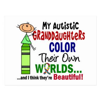 COR do autismo SUAS PRÓPRIAS netas dos MUNDOS Cartão Postal
