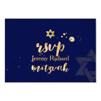 Cor do rsvp DIY de PixDezines, bar Mitzvah Convite 8.89 X 12.7cm