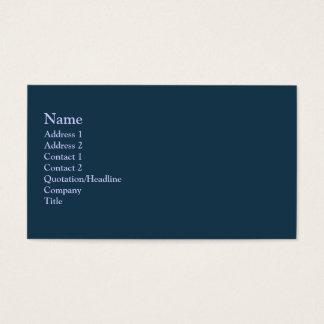 Cor escura da cerceta cartão de visitas