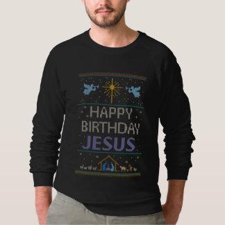 Cor feia cristã Jesus da camisola do Natal do T-shirt