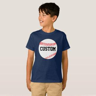 Cor feita sob encomenda do basebol do menino & camisetas