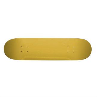 Cor metálica vazia do ouro você projeta 7 3/4 de shape de skate 21,6cm