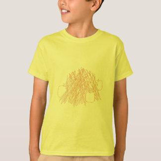 Cor nas camisas - abóboras em um choque do milho