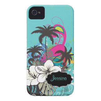Cor retro do fundo de PixDezines Aloha/DIY Capinhas iPhone 4