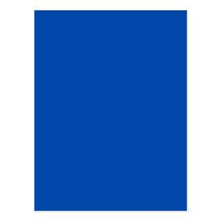 Cor sólida dos azuis cobaltos cartão postal